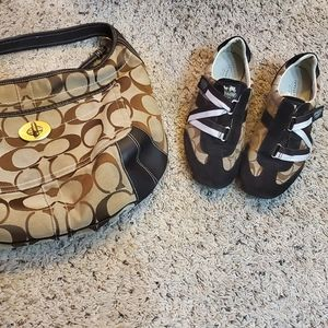 Coach purse and matching shoes